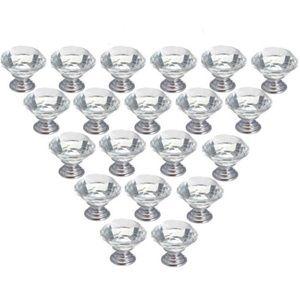 Other - 20 PCS Crystal Glass Diamond Shape Cupboard Knobs